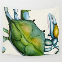 crab Wall Tapestries featuring Crab by Dylan Morang