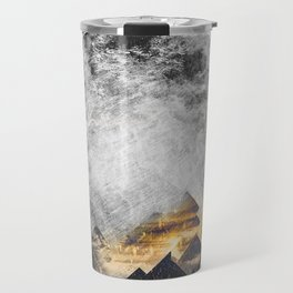One mountain at a time - Black and white Travel Mug