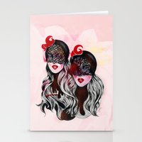 gemini Stationery Cards featuring Gemini by Felicia Cirstea