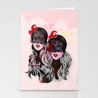 gemini Stationery Cards featuring Gemini by Felicia Atanasiu