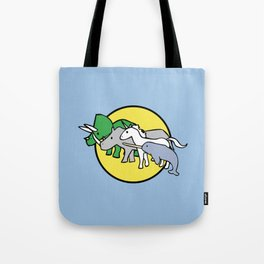 Horned Warrior Friends (unicorn, narwhal, triceratops, rhino) Tote Bag