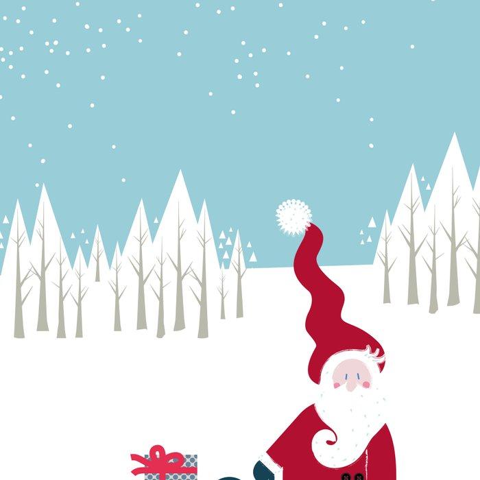 Santa and the little Angel Leggings
