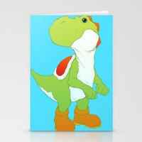 yoshi Stationery Cards featuring Yoshi by bloozen