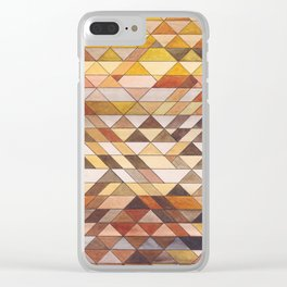 Triangle Pattern Fall Colors Clear iPhone Case
