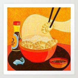 Dumpling Mania Art Print