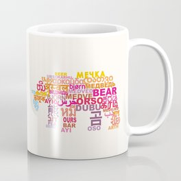 Bear in Different Languages Coffee Mug