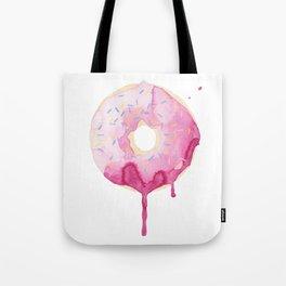 Glazed Pink Donut Tote Bag