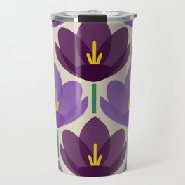 Crocus Flower Travel Mug