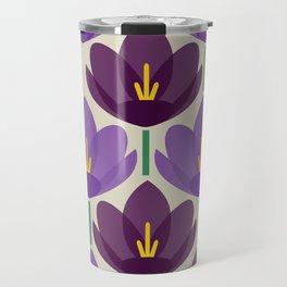 Crocus Flower Travel Mug