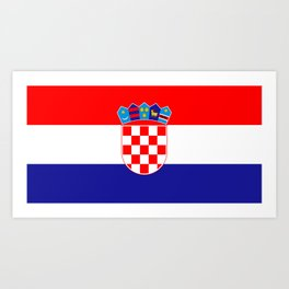 Flag of Croatia Art Print