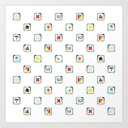 Button Pattern Sfr Art Print