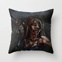 zombies Throw Pillows featuring Zombies!! by Shyniester