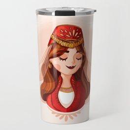 Armenian Girl Travel Mug