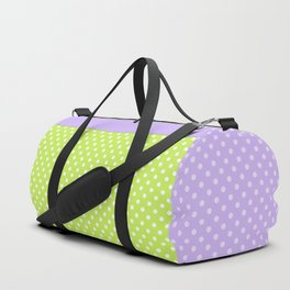 Bright green background with polka dot Duffle Bag