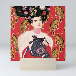 Let your mind blossom - Fashion portrait Mini Art Print