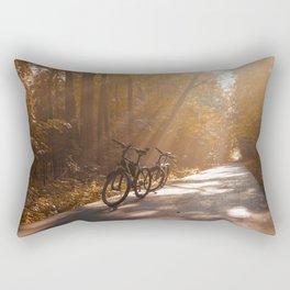 Morning Autumn Forest Rectangular Pillow