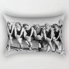 Vintage Bathing Beauties on the Beach Rectangular Pillow
