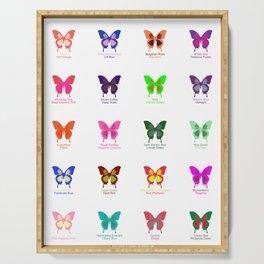 Butterflies 20 Serving Tray