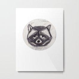 Racoon #1 #oilchalk #drawing #art #society6 Metal Print
