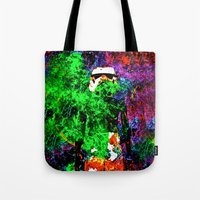 stormtrooper Tote Bags featuring Stormtrooper   by Saundra Myles