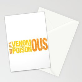 Venomous Not Poisonous Pet Snake - Reptile Owner  Stationery Cards