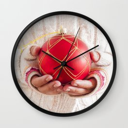 Christmas balls Wall Clock