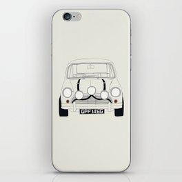 The Italian Job White Mini Cooper iPhone Skin
