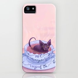 Not Everone's Cup Of Tea - Sphynx Cat - Part 2 iPhone Case