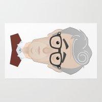woody allen Area & Throw Rugs featuring Woody Allen by Alexander Kuzmin