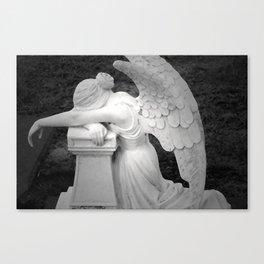 crying angel Canvas Print