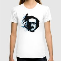 edgar allan poe T-shirts featuring Edgar Allan Poe Crows by Ludwig Van Bacon
