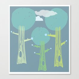 Even forests get the blues Canvas Print