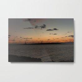 Sunrise over Twinlights Metal Print