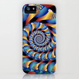 Archimedes' Blue & Gold Tangent iPhone Case