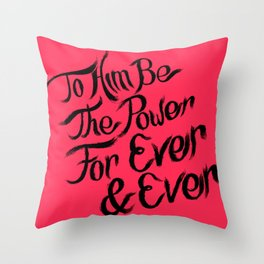 1st Peter lllustrated Poster  Throw Pillow