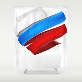 The striped heart Shower Curtain