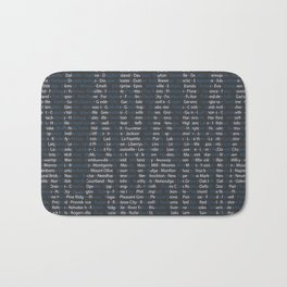 Alabama and All Her Cities Bath Mat