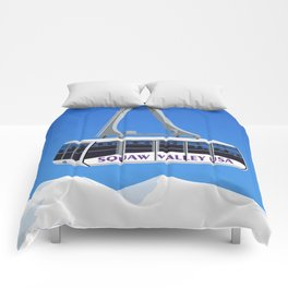 Squaw Valley Ski Resort ,LakeTahoe , California Comforters