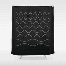 between waves Shower Curtain