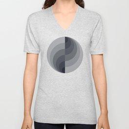 Marble Gray Globe LT Unisex V-Neck