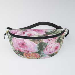 Romantic Bouquet of Pink Roses Fanny Pack