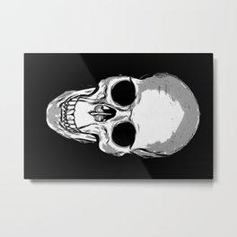 Monotone Skull Metal Print