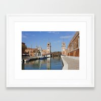 arsenal Framed Art Prints featuring The Venetian Arsenal by Kiril Stanchev