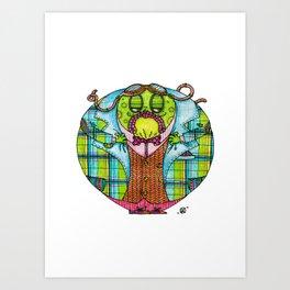 Toad in Tweeds Art Print