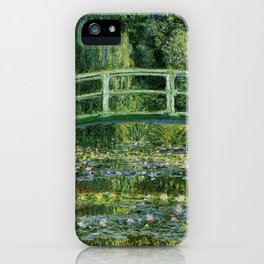 Claude Monet Neck Gaiter Water Lillie and the Japanese Bridge Monet Neck Gator iPhone Case