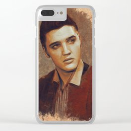 Elvis Presley Portrait Clear iPhone Case