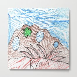 Coral Polyps Metal Print