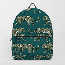Kitty Parade - Olive on Dark Teal Backpack
