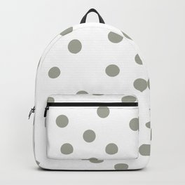 Simply Dots in Retro Gray on White Backpack