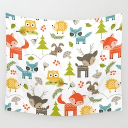 Woodland Animals Wall Tapestry